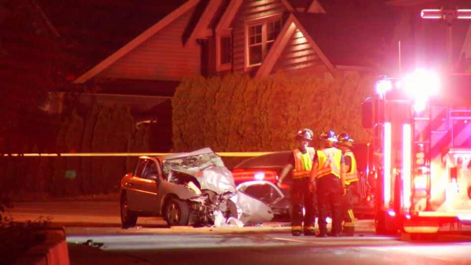 A 33-year-old man has died after his car slammed into another vehicle traveling the opposite direction on Whatcom Road on Sept. 15, 2017. (CTV)