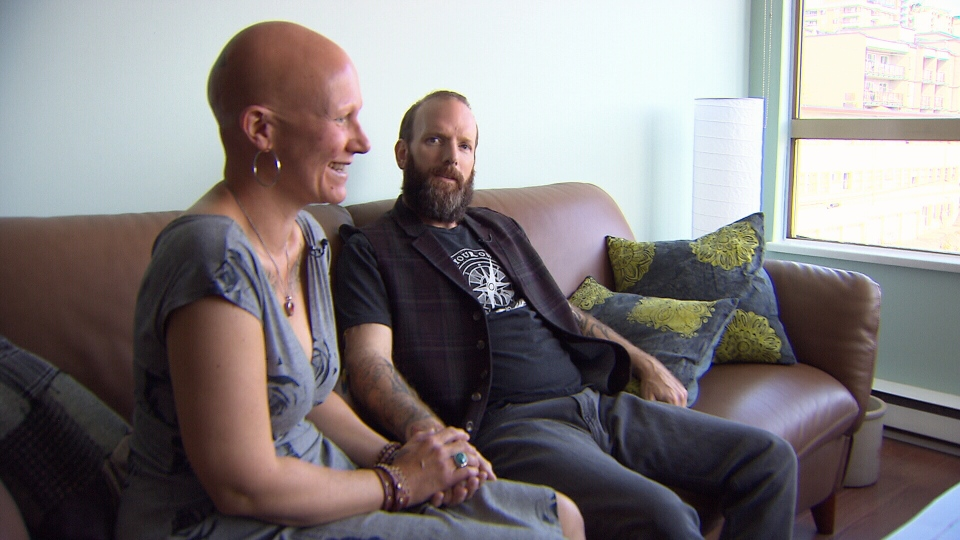 Chris Walters, right, married Jana Buhlmann, left, after his Stage 4 cancer diagnoses in Dec. 2016. (CTV)