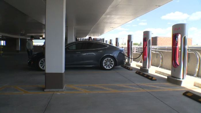 Southgate Centre installed eight Tesla Superchargers as more and more Edmontonians start driving electric vehicles.
