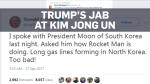 Trump calls North Korean leader 'Rocket Man'