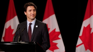 Justin Trudeau is scheduled to meet with trade leaders in Winnipeg Tuesday. File image.