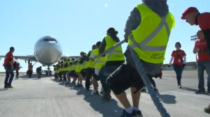 Over 45 teams will be at the Calgary Airport on Sunday for the annual Plane Pull event, in support of United Way.