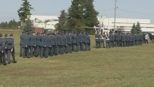 Military parade at CFB Borden
