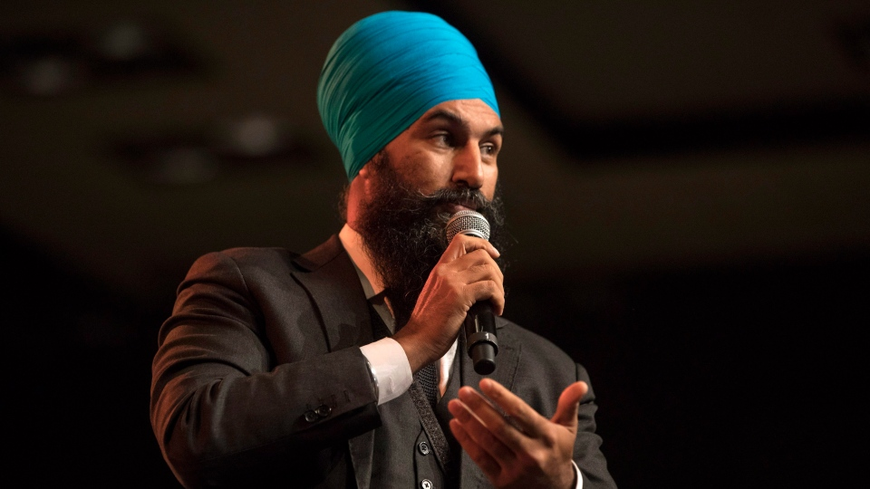 Leadership contender Jagmeet Singh speaks at the NDP's Leadership Showcase in Hamilton, Ont. on Sunday September 17 , 2017. (THE CANADIAN PRESS/Chris Young)