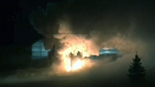 Car hits CO2 tank, sparking explosion that kills 2