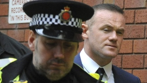 Wayne Rooney leaves Stockport Magistrates Court, on Sept. 18, 2017. (Rui Vieira / AP)