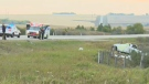 A driver has died after a crash northwest of Calgary early Monday morning.