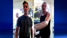 Montreal police provided these surveillance photos of men who broke into at least 20 homes in Hampstead and Montreal West
