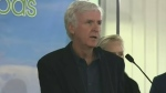 Director James Cameron announces Sask. food plant