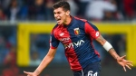 Genoa's Pietro Pellegri at the Luigi Ferraris Stadium in Genoa, Italy, on Sept. 17, 2017. (Simone Arveda / ANSA via AP)