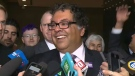 Naheed Nenshi told the media on Monday that all candidates should reveal their donor lists heading into the October election.