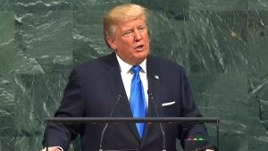 Donald Trump speaking at UN