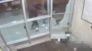 Suspects are seen firing handguns at 33-year-old Anthony Soares in surveillance footage provided by Toronto police.