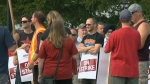 Picket line grows on day 2 of CAMI strike