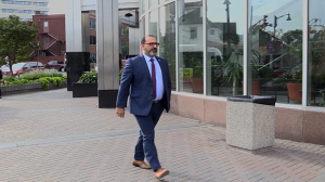 Thibeault shown here entering court on Tuesday.