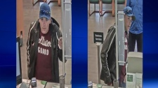 Police hope that public tips will help them identify a man believed to be behind a bank robbery in northwest Calgary on Monday evening. (Supplied)