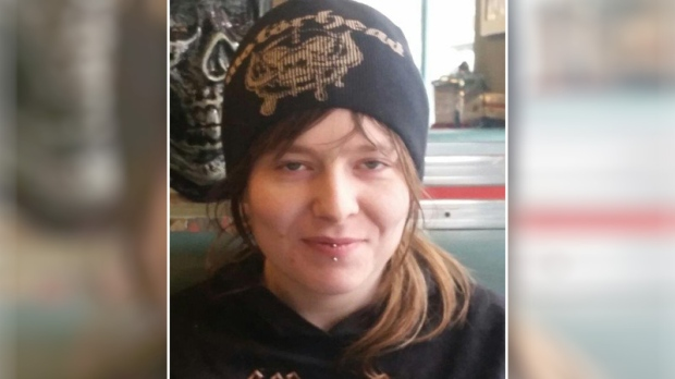 """28-year-old Julia Whitney is described as white, 5'4"""" and 120 lbs. with blonde hair cut in a mullet with the sides dyed black. She has a barbell piercing in her lower lip and has her left nostril pierced."""