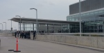 RCMP is on scene at Winnipeg airport after a report came in that the airport was being evacuated. (Source: Dan Timmerman/CTV Winnipeg)