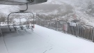 Light snow dusts the Eagle Chair at Mount Washington Ski Resort Tues., Sept. 19, 2017. (Facebook)