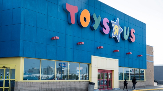 """A Toys """"R"""" Us store is seen Tuesday, September 19, 2017 in Montreal. Toys """"R"""" Us has filed for bankruptcy protection in the United States and says it intends to follow suit in Canada. THE CANADIAN PRESS/Paul Chiasson"""