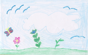 Weather art by Sophie Marie, age 7.