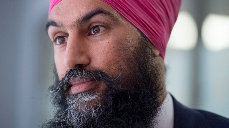 Jagmeet Singh participates in an interview with The Canadian Press in Ottawa on Tuesday, Sept. 19, 2017. (THE CANADIAN PRESS / Justin Tang)
