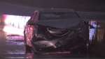 A serious crash snarled traffic on the 401 westbound near Ayr for several hours Tuesday.