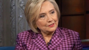 Hillary Clinton sits down with Stephen Colbert