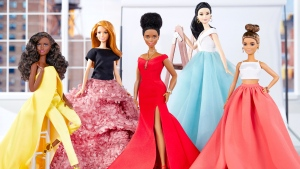 Christian Siriano designs one-of-a-kind looks for Barbie highlighting the diversity found in the brand's Fashionistas line. (© Courtesy of Mattel Inc / PRNewsfoto)