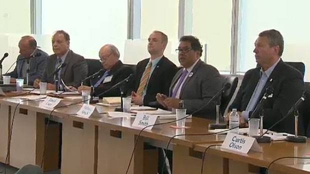 Six out of the 10 candidates for mayor took part in a debate at Mount Royal University on Tuesday night.