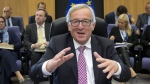 European Commission President Jean-Claude Juncker at EU headquarters in Brussels on Sept. 20, 2017. (Virginia Mayo / AP)