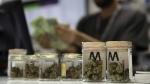 A cashier rings up a marijuana sale at the Essence cannabis dispensary in Las Vegas on July 1, 2017. (John Locher / AP)