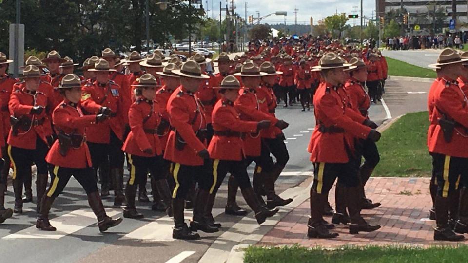 Regimental funeral mass for RCMP officer