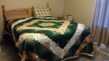 This homemade quilt was among possessions lost when a newlywed couple's U-Haul van was stolen in B.C.'s Fraser Valley (Abbotsford Police).