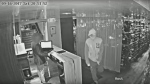 The suspect in the Saturday night shooting death of real estate agent Simon Giannini is seen in this security camera image. (Toronto Police Service/YouTube)
