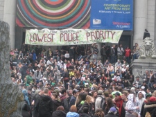 Thousands of marijuana enthusiasts gathered on the steps of the Vancouver Art Gallery to celebrate the day known as 4/20. April 20, 2009.