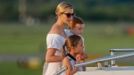 Ivanka Trump, daughter of and assistant to U.S. President Donald Trump, and her children Arabella, front, and Joseph head to Air Force One at Morristown Municipal Airport, Sunday, Aug. 20, 2017. (Pablo Martinez Monsivais/AP Photo)