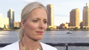 Environment and Climate Change Minister Catherine McKenna speaks to reports in New York City on Wednesday, Sept. 20, 2017.