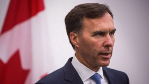 Minister of Finance Bill Morneau speaks to media during a press conference in Vancouver on Sept. 5, 2017. (Ben Nelms / THE CANADIAN PRESS)