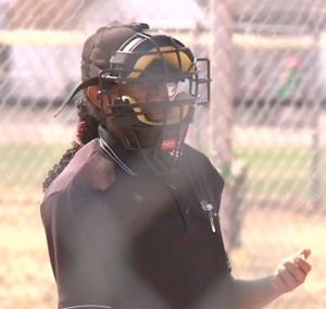 Simeret Miller is one of the only female umpires in the Parkland.