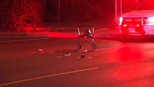 Woman using a walker struck and killed by pickup