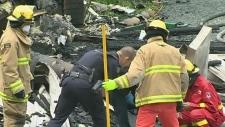 Nine-months-pregnant woman escapes house fire