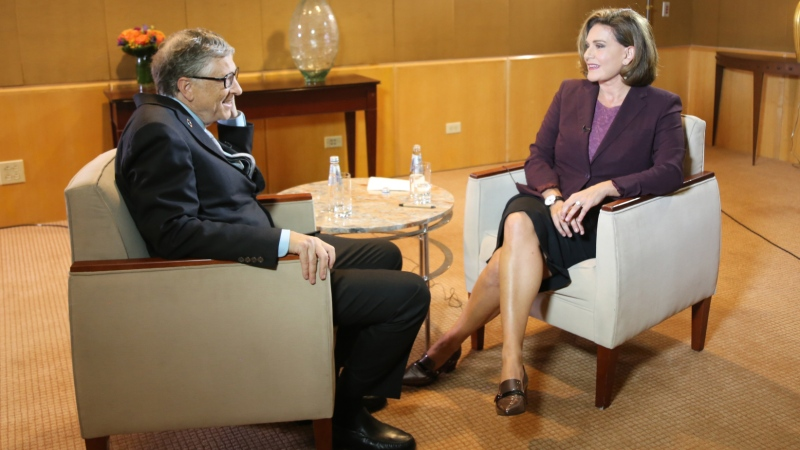 Bill Gates talks to Lisa LaFlamme about international aid in the time of Trump