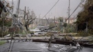 Electricity poles and lines lay toppled on the road after Hurricane Maria hit the eastern region of the island, in Humacao, Puerto Rico, Wednesday, Sept. 20, 2017. (AP Photo / Carlos Giusti)