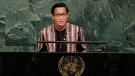 Myanmar's second Vice President Henry Van Thio addresses the United Nations General Assembly, Wednesday, Sept. 20, 2017, at the United Nations headquarters. (AP Photo / Frank Franklin II)