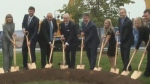 Brian Mulroney returned to St. Francis Xavier University, his Nova Scotia alma mater, for the official ground-breaking of a $100 million project for which he raised the money and which in part bears his name.