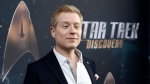 "In this Sept. 19, 2017 file photo, Anthony Rapp, cast member in ""Star Trek: Discovery,"" poses at the premiere of the new television series in Los Angeles. (Photo by Chris Pizzello/Invision/AP, File)"