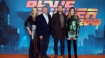 From left, actors Sylvia Hoeks, Harrison Ford, Ryan Gosling, Sylvia Hoeks, Ana de Armas pose for photographers during the photo call for 'Blade Runner 2049' in London, Thursday, Sept. 21, 2017. (Photo by Joel Ryan/Invision/AP)
