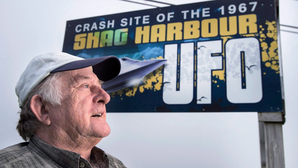 Laurie Wickens, president of the Shag Harbour Incident Society, is seen in Shag Harbour, N.S. on Saturday, Sept. 16, 2017. On the night of October 4, 1967, Wickens and four of his friends spotted a large object descending into the waters off the harbour. The object was never officially identified, and was therefore referred to as an unidentified flying object. The 50th anniversary of the event is being marked with a three-day festival. (THE CANADIAN PRESS/Andrew Vaughan)