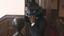 Houssen Milad leaves Halifax provincial court on Sept. 21, 2017. Milad was found not guilty of sexually assaulting a female passenger.